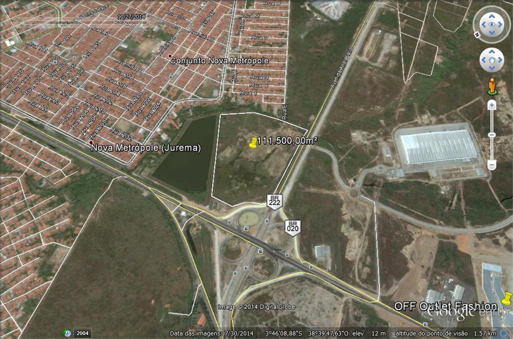 Terreno à venda, 113000 m² por R$ 19.210.000 - Nova Metrópole - Caucaia/CE