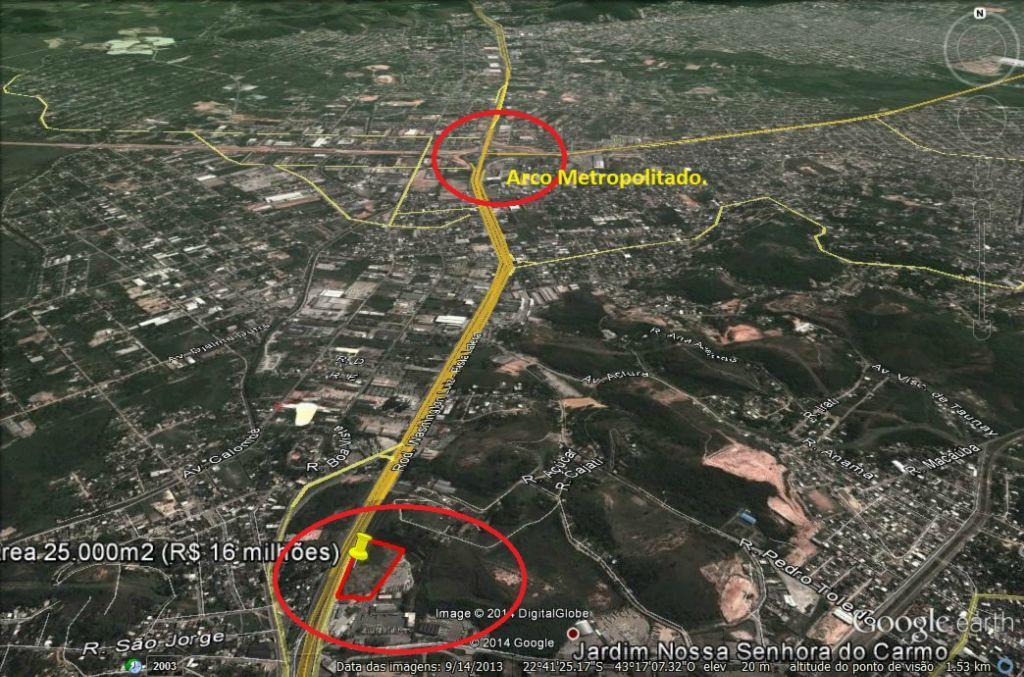 Área comercial à venda, Chácaras Rio-Petrópolis, Duque de Ca