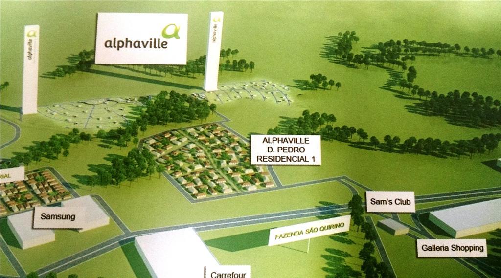 Terreno em Alphaville Dom Pedro 3, Campinas - SP