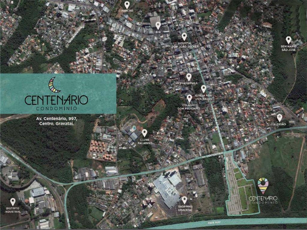 Terreno, Centro, Gravataí (TE1022) - Foto 4