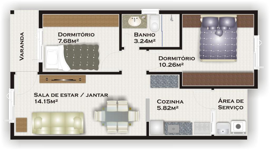 N Grupo - Casa 2 Dorm, Rosa Maria, Gravataí - Foto 2