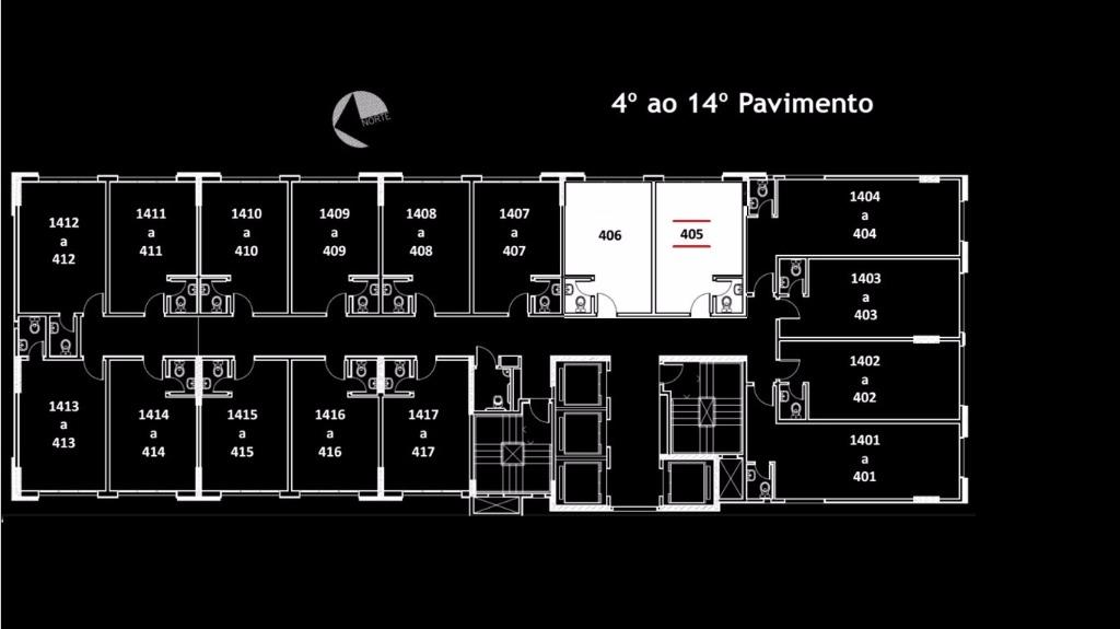Sala à venda em Centro, Curitiba - PR