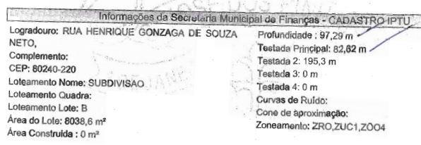 Área em Guatupê, São José Dos Pinhais - PR