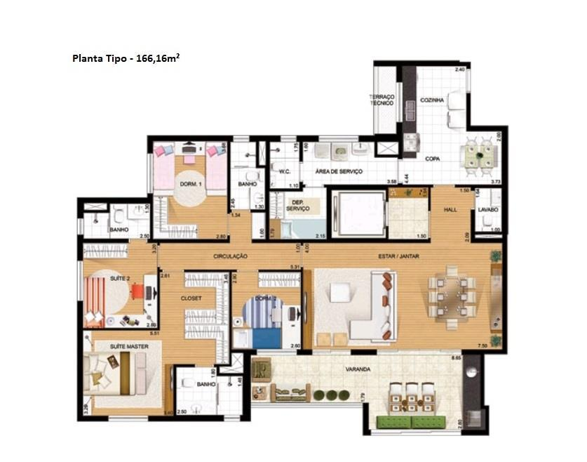 Apartamento de 4 dormitórios à venda em Ecoville, Curitiba - PR