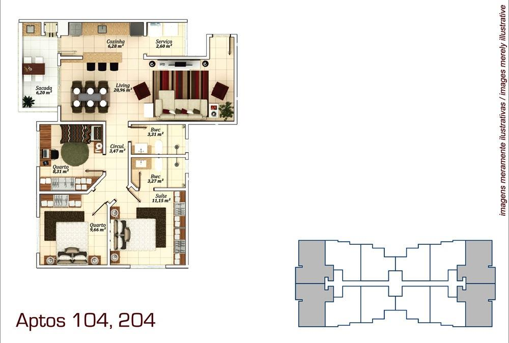 Metta Imobiliária - Apto 3 Dorm, Campeche (AP0573) - Foto 9