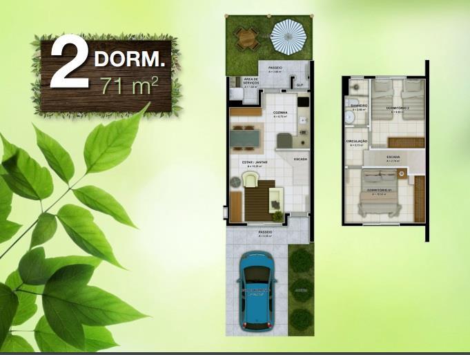 Casa 2 Dorm, Vargem Grande, Florianópolis (CA0356) - Foto 2