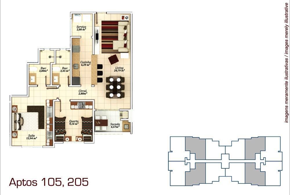 Metta Imobiliária - Apto 3 Dorm, Campeche (AP0573) - Foto 10