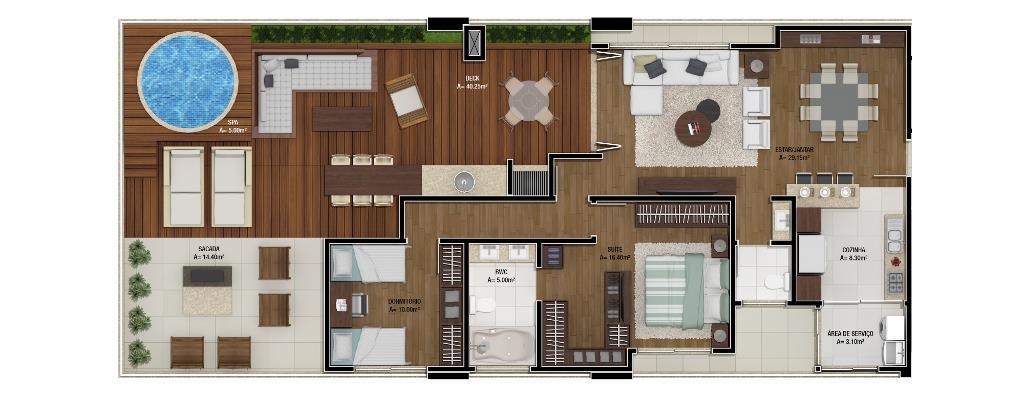 Metta Imobiliária - Cobertura 2 Dorm, Canasvieiras - Foto 3