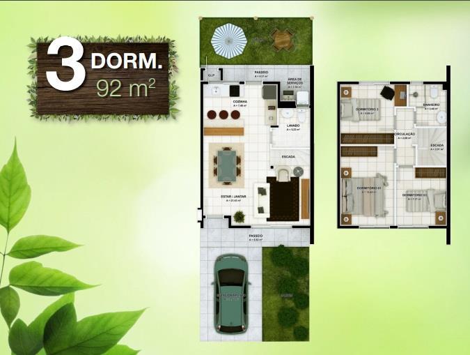Casa 3 Dorm, Vargem Grande, Florianópolis (CA0357) - Foto 2