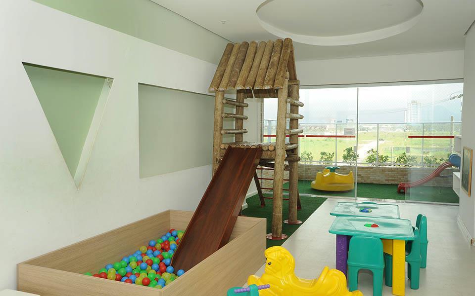 Apto 91m² 2 dorms c/ suite no Costa do Sol, Praia Grande!