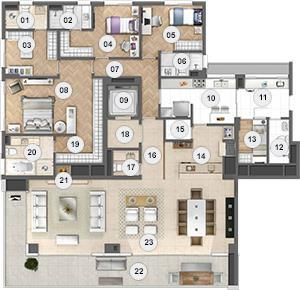 Cobertura de 4 dormitórios à venda em Vila Ipiranga, Porto Alegre - RS