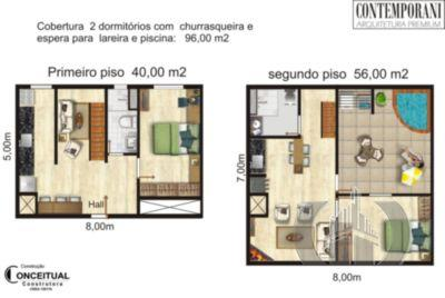 Cobertura de 2 dormitórios em Centro, Santa Maria - RS