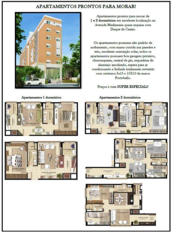 Apartamento de 2 dormitórios em Medianeira, Santa Maria - RS