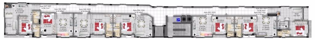 Apartamento de 1 dormitório à venda em Centro, Santa Maria - RS