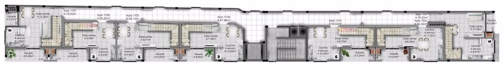 Loft de 1 dormitório em Centro, Santa Maria - RS