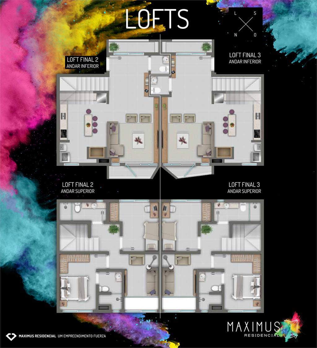 Loft de 2 dormitórios à venda em Nossa Senhora De Lourdes, Santa Maria - RS