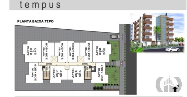 Apartamento de 2 dormitórios em Camobi, Santa Maria - RS