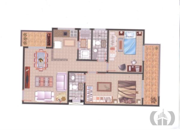 Apartamento de 2 dormitórios à venda em Urlândia, Santa Maria - RS