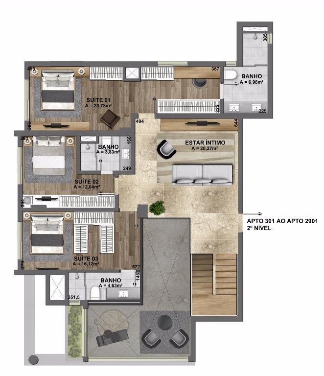 Apartamento Duplex de 3 dormitórios em Mauá, Novo Hamburgo - RS