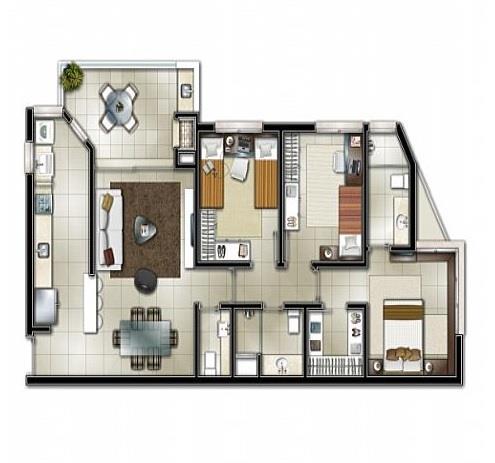 Apartamento de 3 dormitórios à venda em Centro, Novo Hamburgo - RS