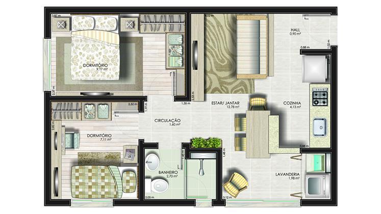 Apartamento de 2 dormitórios à venda em Estância Velha, Canoas - RS