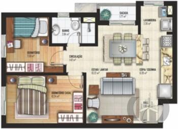 Apartamento de 2 dormitórios à venda em Fátima, Canoas - RS