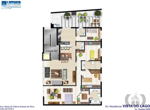Apartamento de 3 dormitórios em Vila Assunção, Porto Alegre - RS
