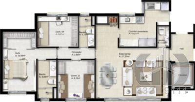 Apartamento de 4 dormitórios em Menino Deus, Porto Alegre - RS