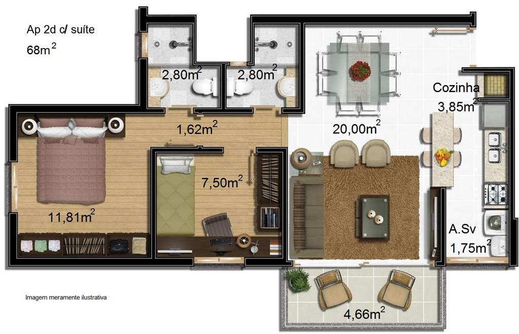 Cobertura de 2 dormitórios em Glória, Porto Alegre - RS