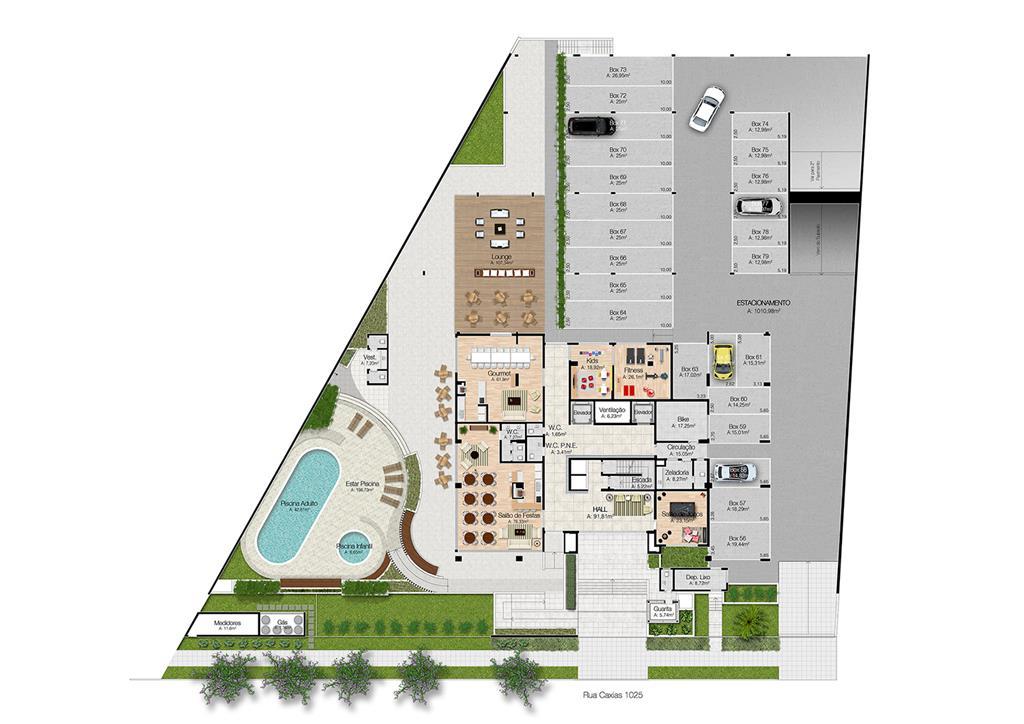 Apartamento de 3 dormitórios em Centro, Esteio - RS