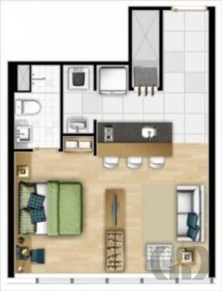 Loft de 1 dormitório em Praia De Belas, Porto Alegre - RS
