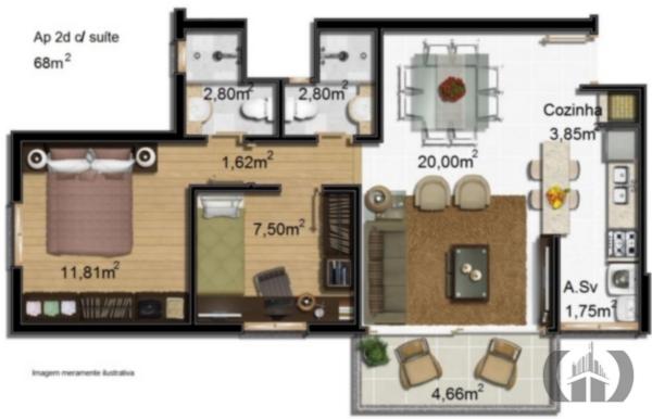 Cobertura de 2 dormitórios à venda em Glória, Porto Alegre - RS