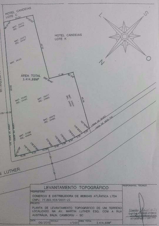 Terreno residencial à venda, Nações, Balneário Camboriú - TE