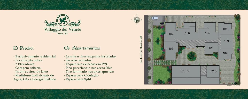 Apartamento de 2 dormitórios em Centro, Canela - RS