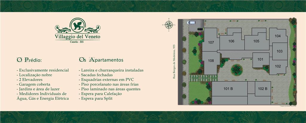Apartamento de 1 dormitório à venda em Centro, Canela - RS
