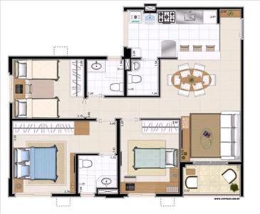 Spazio Acqua Condominio Club I E Ii de 3 dormitórios em Treze De Julho, Aracaju - SE