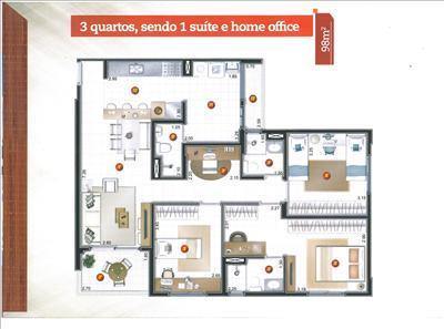 Apartamento de 3 dormitórios em Farolândia, Aracaju - SE