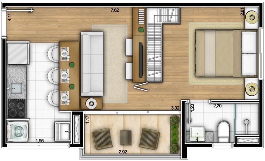Need Campo Belo de 1 dormitório em Campo Belo, São Paulo - SP