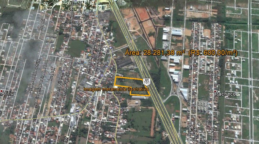 Área  residencial à venda, Barra do Aririú, Palhoça.