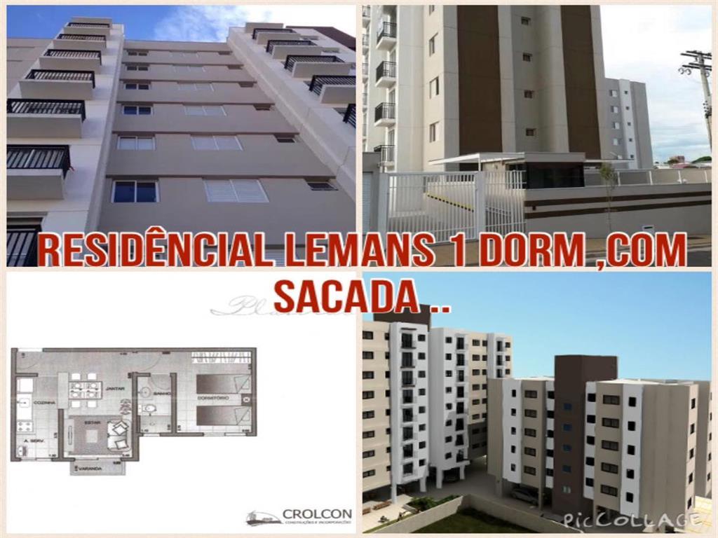 Vendo Apartamento 1 dormitório, residencial Lemans