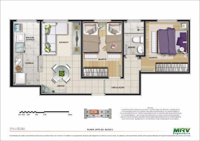 Apartamento  residencial Ipanema à venda, Jardim Terra Branc