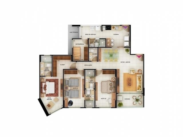 Apartamento  residencial à venda, Altiplano, João Pessoa.