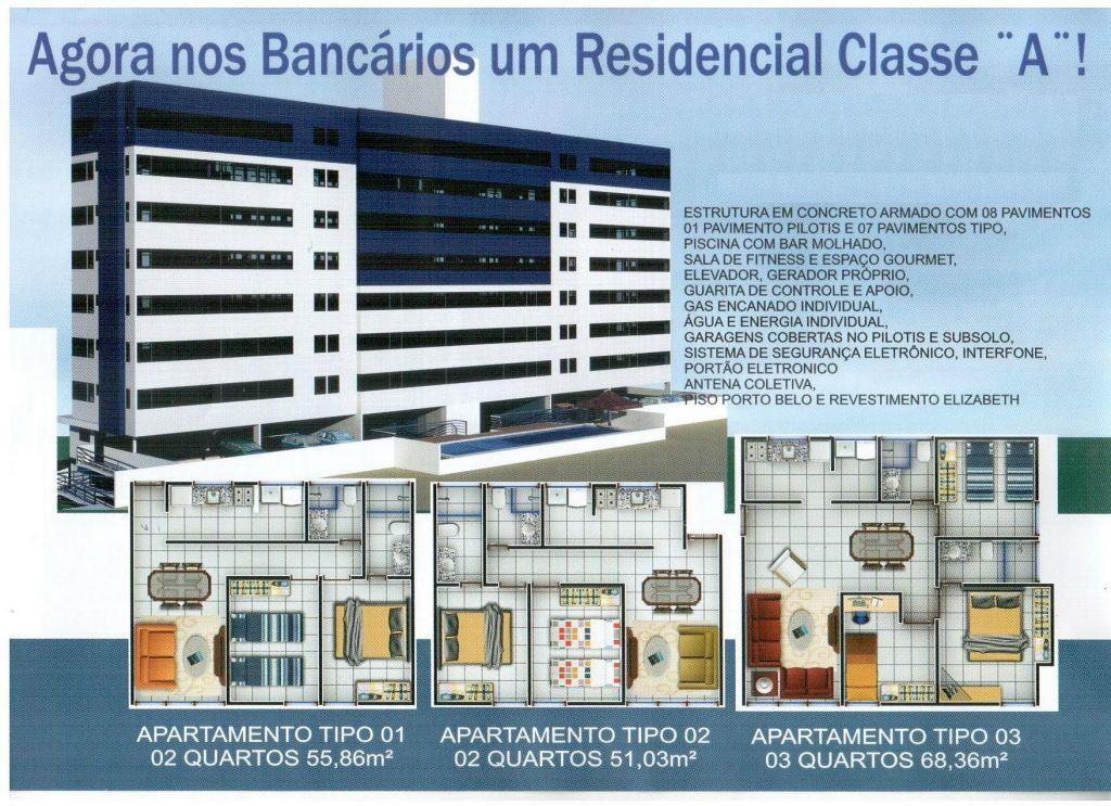 Apartamento residencial à venda, Bancários, João Pessoa - AP2668.