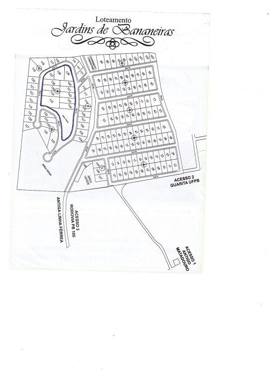 Terreno residencial à venda, Centro, Bananeiras - TE0148.