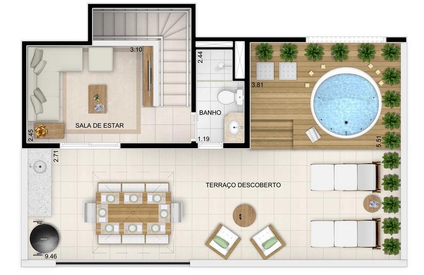 Osasco, 2 Dorms c/ suíte, Excelente Localização e M2