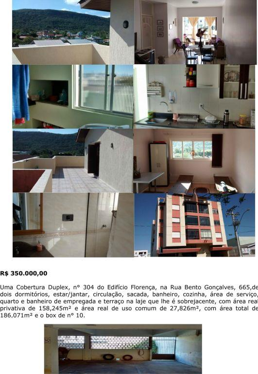 Cobertura de 2 dormitórios em Centro, Osório - RS