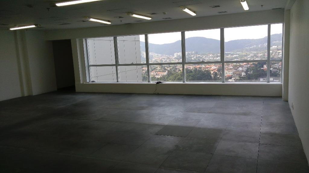 Alphaville sala comercial 114m andar alto