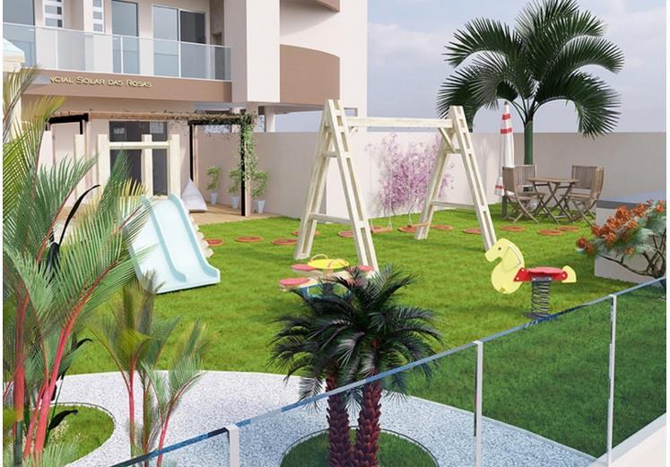 Solar Das Rosas de 2 dormitórios em Barreiros, São José - SC