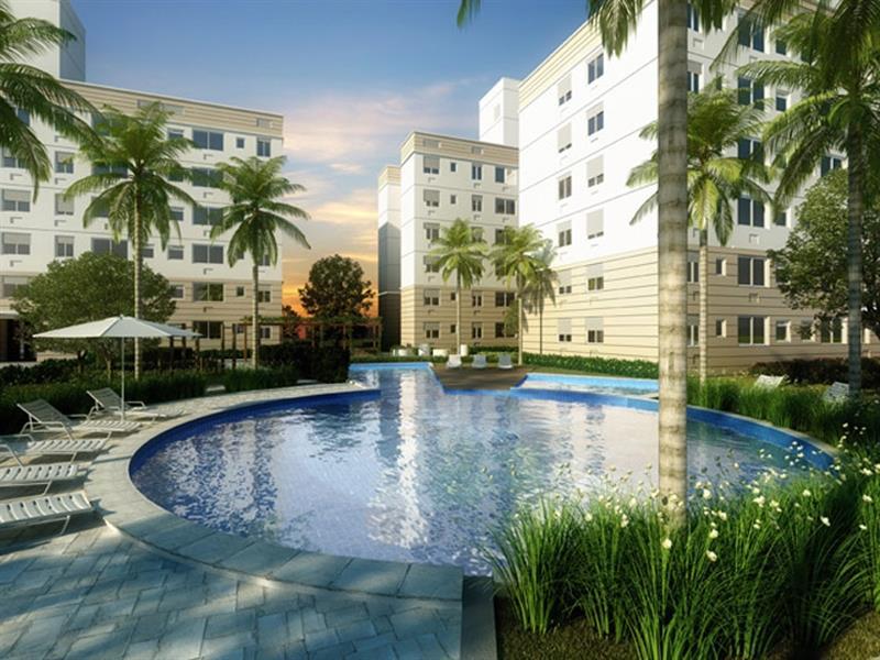 Apartamento com 2 dormitórios, living, banheiro social, cozinha, área de serviço e 1 vaga de garagem. (Clique para ver)