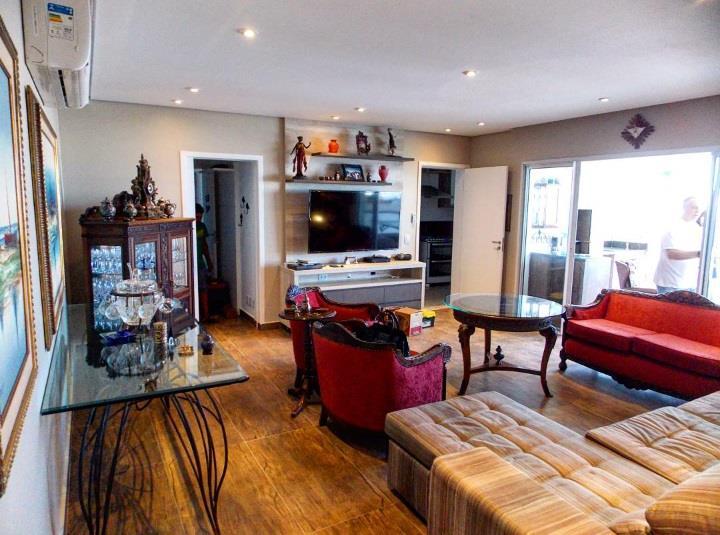 Apartamento para alugar, 150 m² por R$ 6.499,00/mês - Marapé - Santos/SP